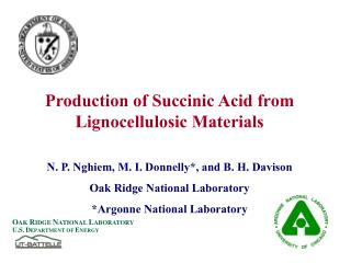 Production of Succinic Acid from Lignocellulosic Materials