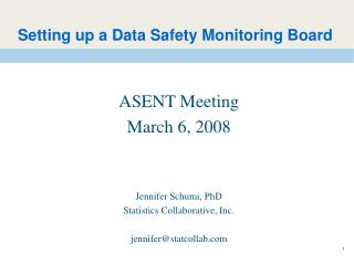 Setting up a Data Safety Monitoring Board