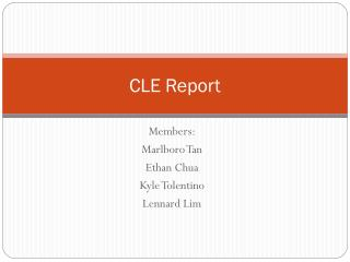CLE Report