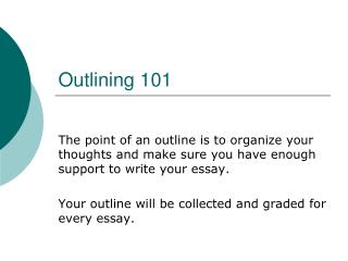 Outlining 101