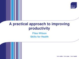A practical approach to improving productivity