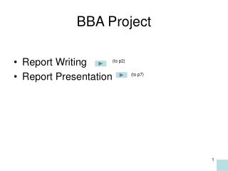BBA Project