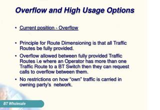 Overflow and High Usage Options