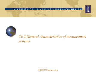 Ch 2 General characteristics of measurement systems