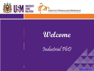 Welcome Industrial PhD
