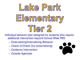 Lake Park Elementary Tier  2