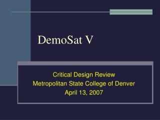 DemoSat V