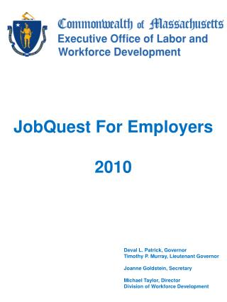 JobQuest For Employers 2010
