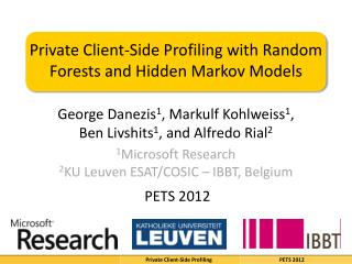 Private Client-Side Profiling with Random Forests and Hidden Markov Models