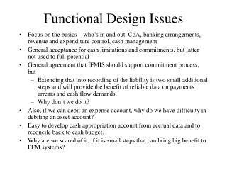 Functional Design Issues