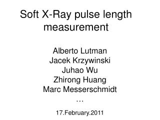 Soft X-Ray pulse length measurement