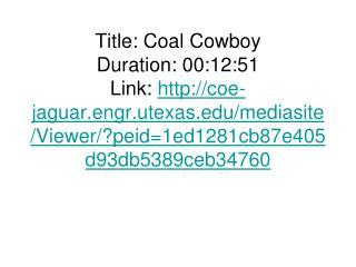 Conversion of Coal to Liquid (CTL) Fuels