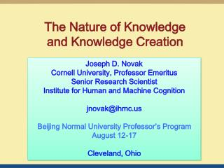 The Nature of Knowledge and Knowledge Creation