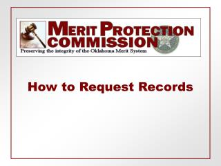 How to Request Records