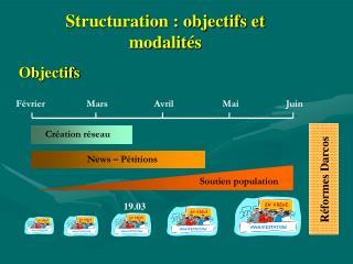 Structuration : objectifs et modalit�s
