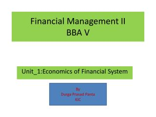 Financial Management II BBA V