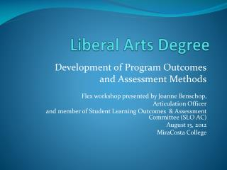 Liberal Arts Degree