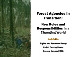 Forest Agencies in Transition: New Roles and Responsibilities in a Changing World