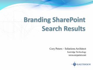 Branding SharePoint Search Results