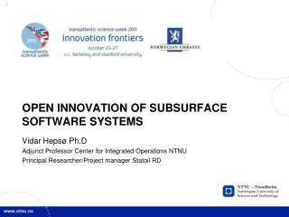 Open  I nnovation of Subsurface S oftware  S ystems
