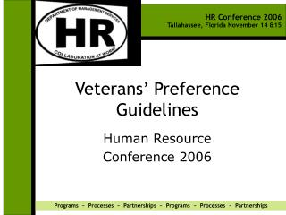 Veterans  Preference Guidelines