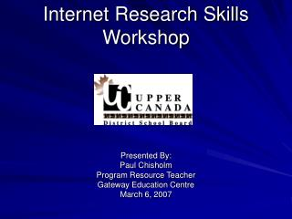 Internet Research Skills Workshop