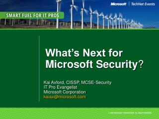 What s Next for Microsoft Security