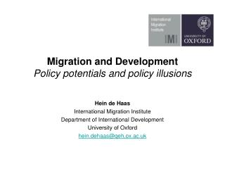 Migration and Development Policy potentials and policy illusions