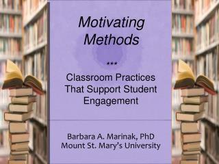 Barbara A. Marinak, PhD Mount St. Mary's University