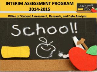 INTERIM ASSESSMENT PROGRAM 2014-2015