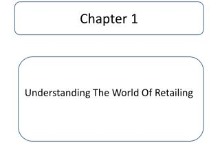 Understanding The World Of Retailing