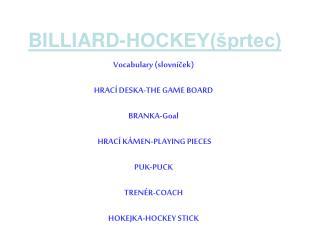 BILLIARD-HOCKEY(�prtec)