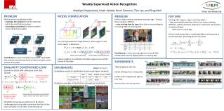 Weakly Supervised  Action Recognition
