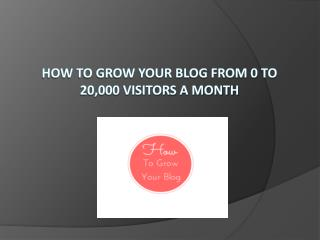 How to Grow Your Blog from 0 to 20,000 Visitors A Month