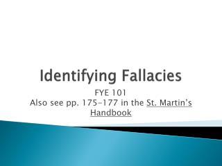 Identifying Fallacies