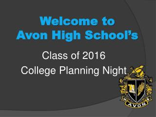 Welcome to           Avon High School's