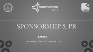 SPONSORSHIP & PR