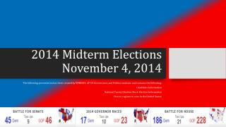 2014 Midterm Elections November 4, 2014