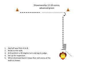 Showmanship 12-18 novice, advanced green