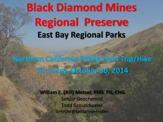 Black Diamond Mines  Regional  Preserve East Bay Regional Parks