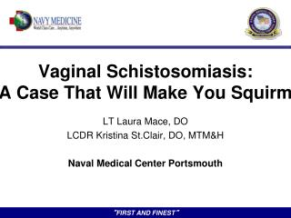 Vaginal  Schistosomiasis : A Case That Will Make You Squirm