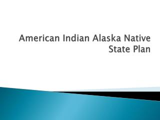 American Indian  Alaska Native State  Plan