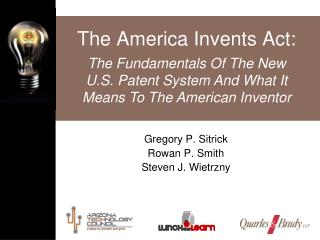 The America Invents Act: