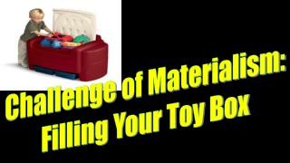 Challenge  of Materialism:  Filling  Your Toy  Box