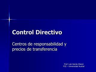 Control Directivo