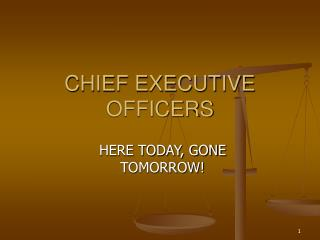 CHIEF EXECUTIVE OFFICERS