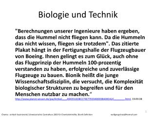 Biologie und Technik