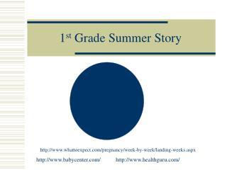 1 st  Grade Summer Story