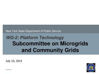 WG-2: Platform Technology Subcommittee on Microgrids and Community Grids