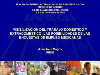 TERCER ENCUENTRO INTERNACIONAL DE ESTADÍSTICAS CON ENFOQUE DE GÉNERO